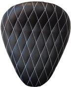 "La Rosa Harley-Davidson Sportster/Softail/Dyna/Touring Bikes Chopper Bobber 13"" Eliminator Solo Seat Black Diamond Tuk with White Stitches"