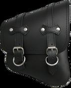 La Rosa Design All Softail Models Right Side claSICK Solo Saddle Bag Black Leather