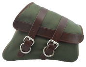 04-UP Harley Davidson Sportster Nightster 1200 Forty-Eight 72 XL Canvas Right Side Saddle Bag Swingarm Bag - Army Green