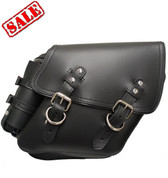 04-UP Harley Davidson Dyna Wide Glide FXR Right Side Solo Saddle Bag Black with Fuel Bottle Holder