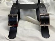 Special La Rosa  Black Leather Belts for Blanket/Jacket
