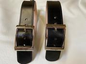 La Rosa Black Leather Belts for Blanket/Jacket