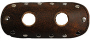 "La Rosa Design Universal Muffler Heat Shield - 6"" Rustic Brown with Circle Cuts"