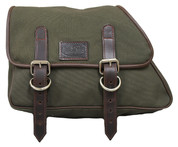 82-03 Harley-Davidson XL Sportster Left Side Eliminator Canvas Solo Saddle Bag - Army Green Canvas