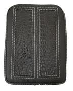 Universal Rear Passenger Pillion Pad - Black Alligator Inlay