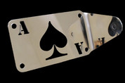 Universal Polished Stainless Steel Side Mount License Plate Frame - Ace Spade