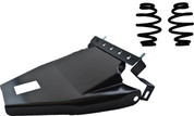 "1984-1999Harley-Davidson Softail Solo Seat Deluxe Conversion kit - 3"" Blacked Out Barrel Springs Black Cover&Bracket"