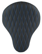 "La Rosa Harley-Daviddson Chopper Bobber  /Sportster/Softail/Dyna/Touring Bikes  16"" Eliminator Solo Seat Black Diamond Tuk Blue Thread"