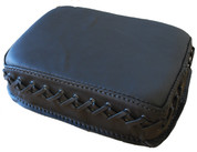Universal Rear Passenger Pillion Pad - Black Cross Laced