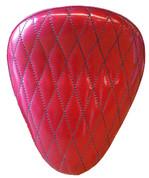 "La Rosa Harley-Davidson  /Sportster/Softail/Dyna/Touring Bikes  Chopper Bobber 13"" Solo Seat Red Metal Flake Diamond Tuk"