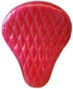 "La Rosa Harley-Davidson /Sportster/Softail/Dyna/Touring Bikes  Chopper Bobber 16"" Solo Seat Red Metal Flake Diamond Tuk"