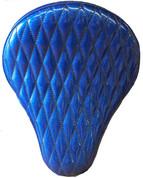 "La Rosa Harley-Davidson  /Sportster/Softail/Dyna/Touring Bikes  Chopper Bobber 16"" Solo Seat Blue Metal Flake Diamond Tuk"