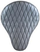 "La Rosa Harley-Davidson  /Sportster/Softail/Dyna/Touring Bikes  Chopper Bobber 16"" Solo Seat White Metal Flake Diamond Tuk"