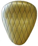 "La Rosa Harley-Davidson  /Sportster/Softail/Dyna/Touring Bikes  Chopper Bobber 13"" Solo Seat Gold Metal Flake Diamond Tuk"