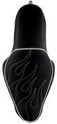 La Rosa Design La Linea Café Seat for 04-UP Harley-Davidson Sportsters - Black with White Flame 2.1&3.3 Tank