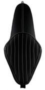 La Rosa Design La Linea Sottile Seat for 04UP Harley-Davidson Sportsters - Black with White Tuk n Roll All Tanks