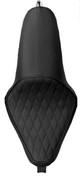 La Rosa Design La Linea Sottile Seat for 04UP Harley-Davidson Sportsters - Black Diamond Tuk - All Tanks