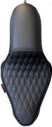 La Rosa Design La Linea Café Seat for 04-UP Harley-Davidson Sportsters - Black Diamond Tuk  2.1&3.3 Tank