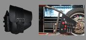 La Rosa Harley-Davidson All Softail Models Left Side Bolt-on Solo Saddle Bag   Swingarm Bag Black Single Wide Strap w/Fuel Bottle holder and Inside Tool Pouches