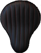 "La Rosa Harley-Davidson /Sportster/Softail/Dyna/Touring Bikes  Chopper Bobber Custom 16"" baSICK Solo Seat Black Tuk N Roll - Red Thread"