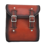 La Rosa Universal Leather Sissy Bar Bag - Antique Shedron Leather Plain