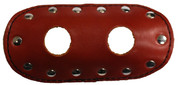 "La Rosa Design Universal Muffler Heat Shield - 6"" Shedronwith Circle Cut"