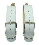 La Rosa White Leather Belts for Blanket/Jacket