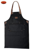 Bike Builder/Mechanic/Barber/Barista Canvas and Leather Apron-Black