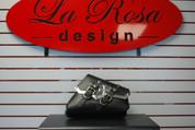 Final Sale!  04-UP Harley-Davidson Sportster Right Side Vintage Saddle Bag Black - Maltese Cross Billet Trim