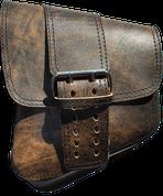 La Rosa Harley-Davidson V-Rod Left Side Solo Saddle Bag  Swingarm Bag Rustic Brown Front Wide Strap