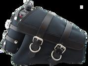 04-UP Harley Davidson Sportster Nightster 1200   Forty-Eight 72 Canvas Right Side Saddle Bag Swingarm Bag with Fuel Bottle Holder - Black