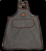 Bike Builder/Mechanic/Barber/Barista  Apron Black Denim with Leather Pouch