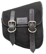 La Rosa Harley-Davidson  All HD Softail Eliminator Canvas Softail Right Side Saddle Bag   Swingarm Bag Black