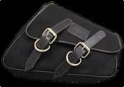 04-UP Harley-Davidson Sportster Nightster 1200 Forty-Eight 72 Roadster XL Eliminator Canvas Right Side Saddle Bag Swingarm Bag - Black