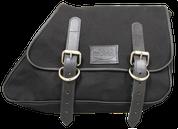 82-03 Harley-Davidson XL Sportster Right Side Eliminator Canvas Solo Saddle Bag -Black Canvas