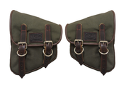 La Rosa Harley-Davidson  All HD Softail Eliminator Canvas Softail Left&Right  Side Saddle Bag   Swingarm Bag  Army Green