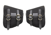La Rosa Harley-Davidson  All HD Softail Eliminator Canvas Softail Left&Right  Side Saddle Bag   Swingarm Bag  Black