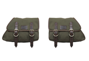 82-03 Harley-Davidson XL Sportster Left &Right Eliminator Canvas Saddle Bag -Army Green Canvas
