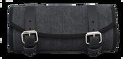 La Rosa Design Harley Chopper Bobber Universal Denim Front Fork Tool Bag - Black