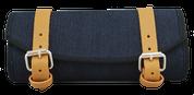 La Rosa Design Harley Chopper Bobber Universal Denim Front Fork Tool Bag - Blue
