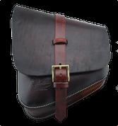 La Rosa Harley-Davidson All Softail Models Left Side Solo Saddle Bag  Swingarm Bag - Hand Dyed Antique Leather-Burgundy