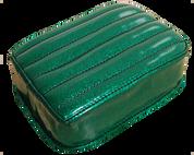 Universal Rear Passenger Pillion Pad - Green Metal Flake Tuk n Roll