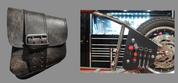 La Rosa Harley-Davidson All Softail Models Left Side Bolt-on Solo Saddle Bag   Swingarm Bag Black Plain with Inside Tool Pouches