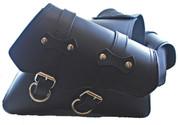 SALE! 2004-UP Harley-Davidson Sportsters Classic Style Throw Over Saddle Bag Set Black Plain