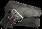 04-UP Harley-Davidson Sportster Right Side Saddle Bag LA FONDINA - Rustic Black Leather