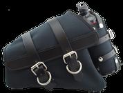 04-UP Harley Davidson Sportster Nightster 1200   Forty-Eight 72 Canvas Left Side Saddle Bag Swingarm Bag with Fuel Bottle Holder - Black