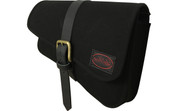 Right Side Black Canvas Solo Saddle Bag for 2016 & Up Triumph Bobber