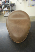 "Flash Sale! Harley Chopper Bobber 13"" baSICK Solo Seat Rustic Brown - Plain"