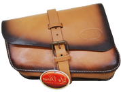 Right Side Leather Solo Saddle Bag for 2016 & Up Triumph Bobber - Antique Tan