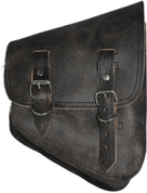 Harley Davidson V Rod Right Side Solo Saddle Bag - Rustic Black